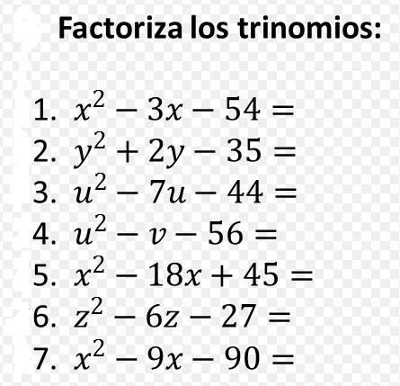 Foro unidad 5: Problemas de factorización.
