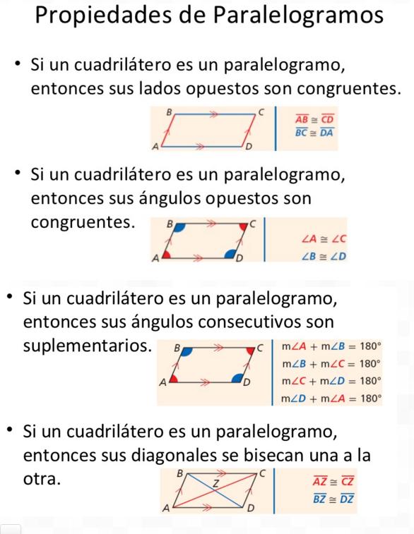 MATEMÁTICAS CUARTO CICLO: 3 Lección: Propiedades del paralelogramo ...